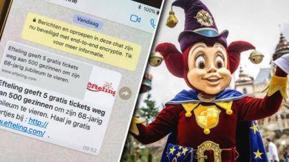 Opgelet! Efteling waarschuwt voor valse promoties via WhatsApp