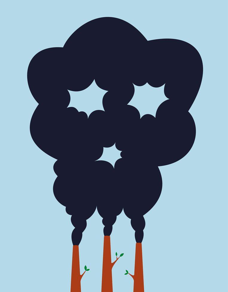 De grote winst op het gebied van CO2-besparing valt te halen bij de grootverbruikers in de industrie, maar die worden nog te veel ontzien. Daarom worden wij, burgers en consumenten, aangepakt. Beeld Francesco Ciccolella