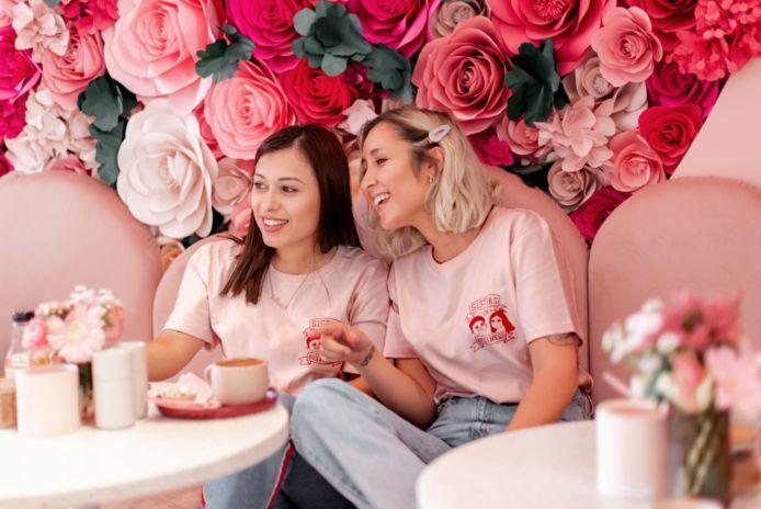 Mariam Harutyunyan en Christina De Witte lanceerden vrijdagavond de collectie  'Sisters in Business'.