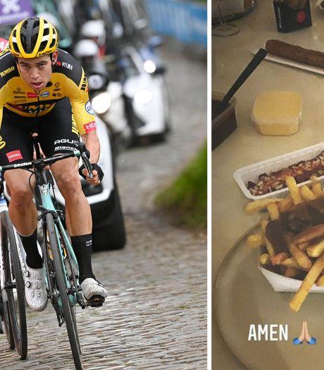 """Van Aert relativise après son sprint perdu face à Van der Poel: """"Je vais manger des frites avec quelques pintes"""""""