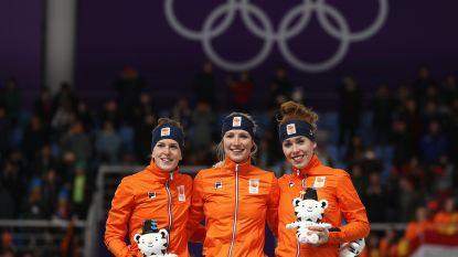 Hier mist u niets van de Winterspelen:  Oranje boven op 3.000m schaatsen, Belg  Almey met tranen in ogen na val