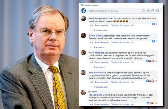 Het compensatieplan van 'speciaal adviseur' Bernard Wientjes wordt op sociale media afgekraakt.