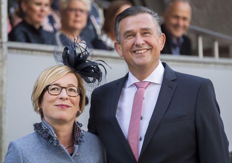 SP-leider Roemer met zijn vrouw tijdens Prinsjesdag. Beeld anp