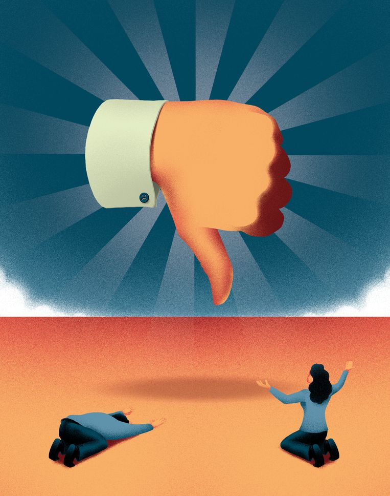 volkskrant opinie - Waarom een pessimist meer aanzien heeft dan een optimist Beeld Luca D'Urbino