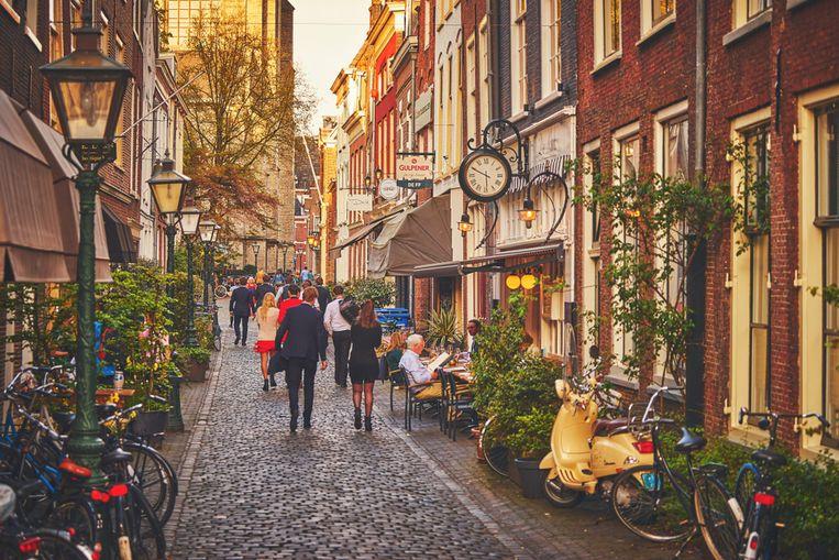 Pittoreske wandelstraten in Leiden