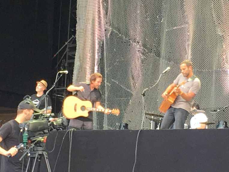 Jack Johnson en Eddie Vedder