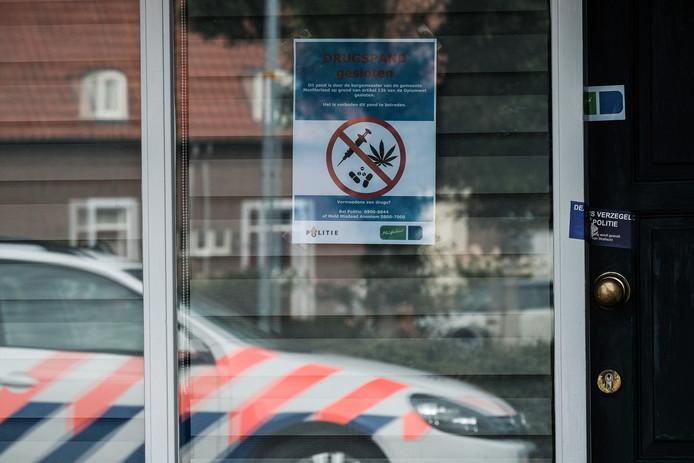 Eerder dit jaar werd een drugswoning in Braamt gesloten.