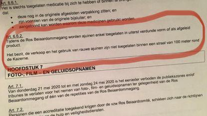 Bijzonder politiereglement voor Ros Beiaard: ajuinen niet toegelaten