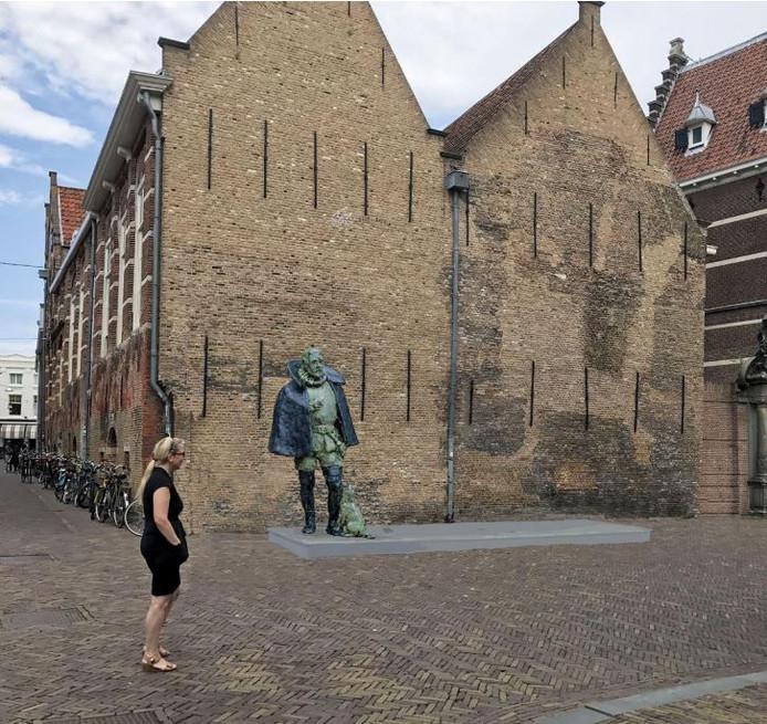 Een artist impression van het beeld van Willem van Oranje, ontworpen door Arie Schippers.