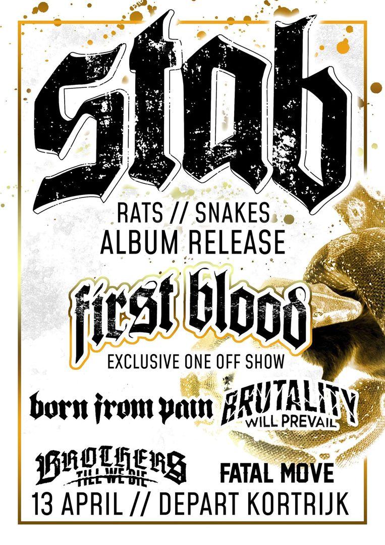 De affiche van de release van het album, op 13 april