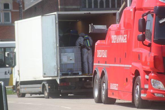 Ook op de Pukkelpopweide in Hasselt werd een truck van de bende gevonden