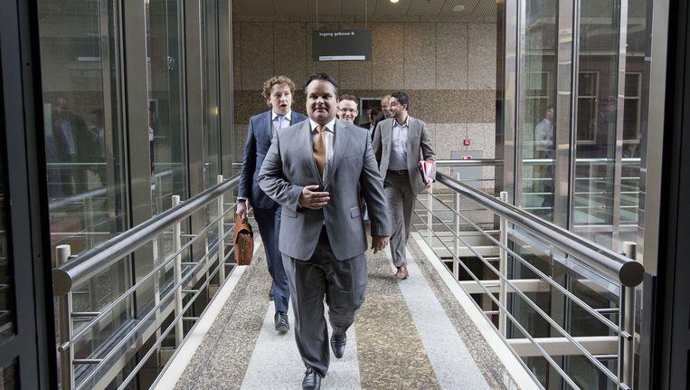 Demissionair Minister Jan Kees de Jager maakt een rondgang langs de fracties. Beeld ANP