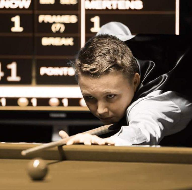 De jonge kampioen Ben Mertens.