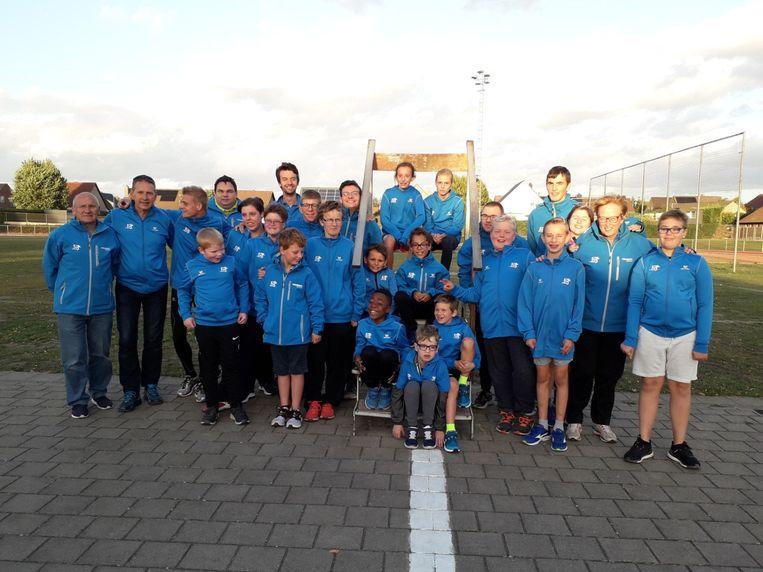 De G-sporters van ROBA houden hun eerste atletiekmeeting.