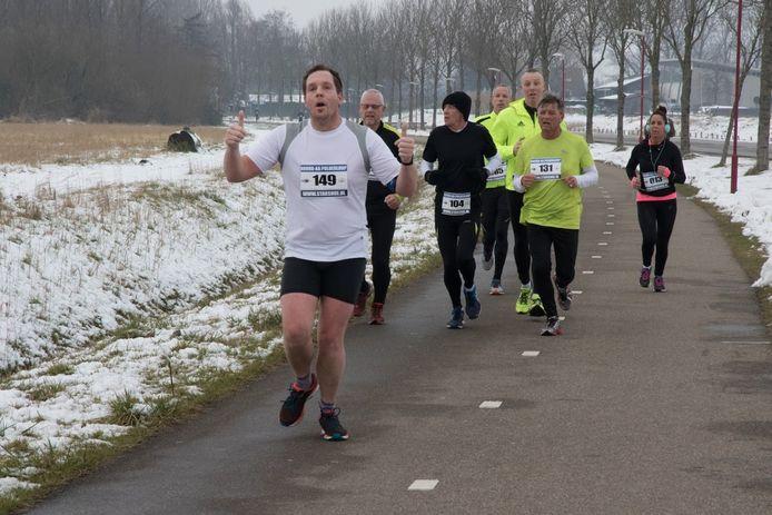Joris Rommelse aan het hardlopen in Zoetemeer. Archieffoto.