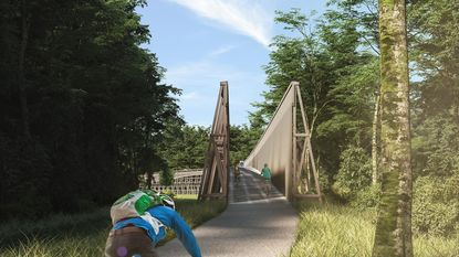 Fietsbrug geeft zicht op nationaal park vanop zeven meter hoogte