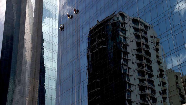 Gebouwen in het financiële centrum van Panama-Stad. Beeld afp