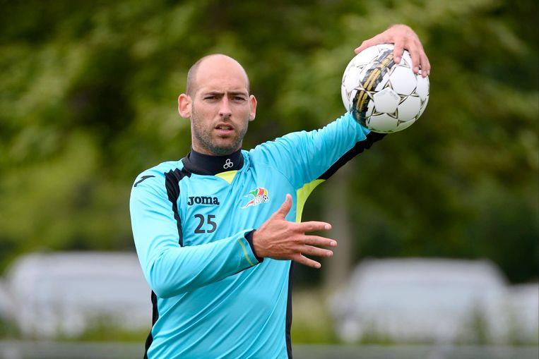 Wouter Biebauw in het shirt van zijn vorige club KV Oostende.