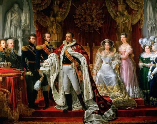 Schilderij van koning Willem I, uit 1819. De Glazen Koets werd in zijn opdracht gemaakt.