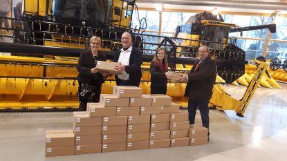 CNH schenkt 700 truffeldozen aan voedselbank
