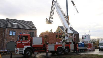 Brandweer moet arbeider evacueren uit woning in aanbouw