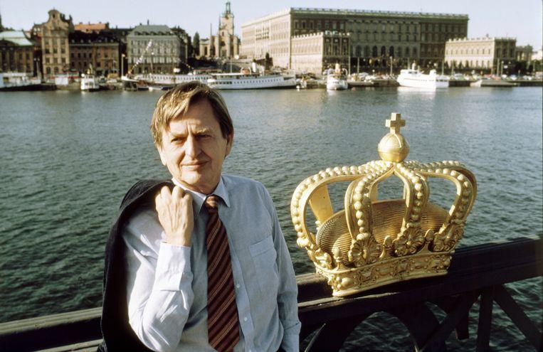 De Zweedse premier Olof Palme in 1982.