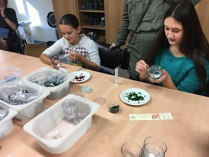 Bezoekers, jong en oud, konden meedoen aan mini-workshops.