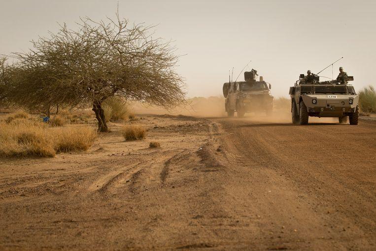 Patrouilles van Nederlandse militairen in Mali. Beeld anp
