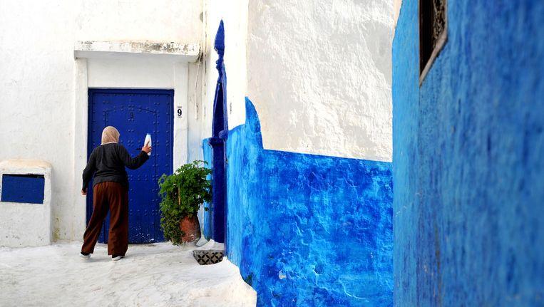 Een huis in Rabat. Veel Marokkanen in Nederland bezitten nog grond in Marokko Beeld Patrice Thebault