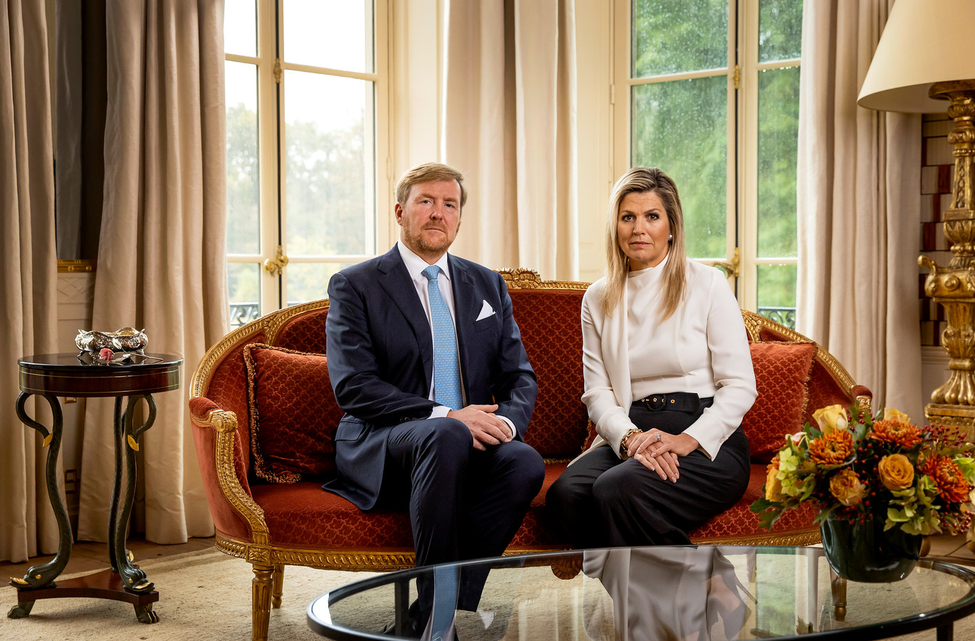 """Koning Willem Alexander en (de stilzwijgende) koningin Máxima: """"Met spijt in het hart.."""""""