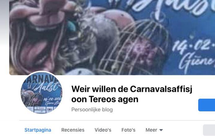 Facebookpagina ter behoud van de affiche aan Tereos.