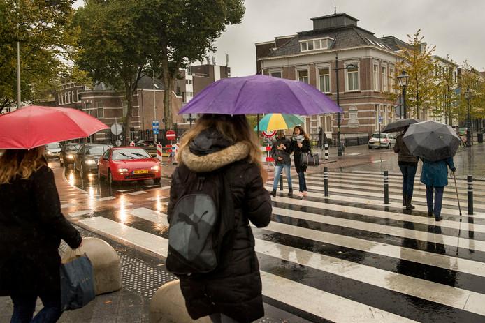 Fietsers en ook voetgangers hebben voorrang op het zebrapad op de kruising Willemstraat/Academiesingel. Toch gebeuren er ongelukken. Volgens de Fietsersbond omdat automobilisten niet in de gaten hebben hoe de voorrangssituatie in elkaar steekt op die locatie.