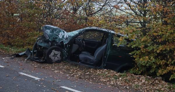 Botsing tussen tractor en auto in Veghel, automobiliste gewond.