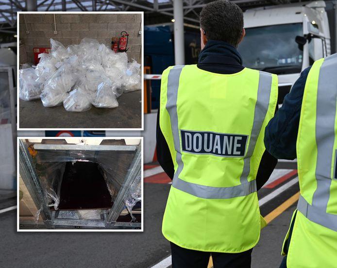 419 kilo drugs werd gevonden in verborgen ruimtes van de vrachtwagen uit Urk.