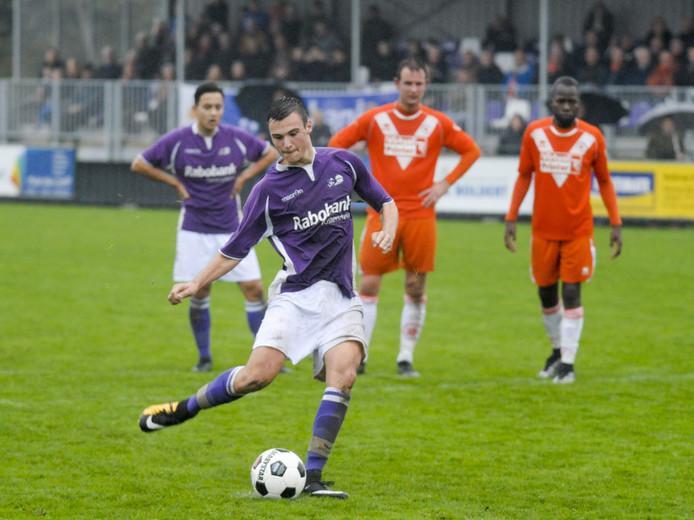 Yarick Dorst, hier nog in het shirt van zijn vorige club Bruse Boys.