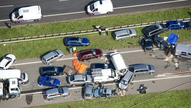 Ongeluk tussen Goes en Middelburg. Beeld anp