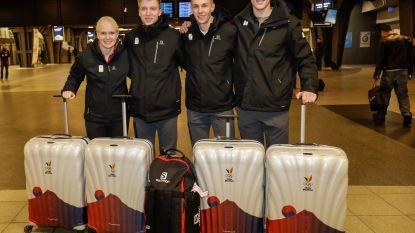 Eerste Belgische atleten (met medaillehoop Swings) vertrokken naar Pyeongchang