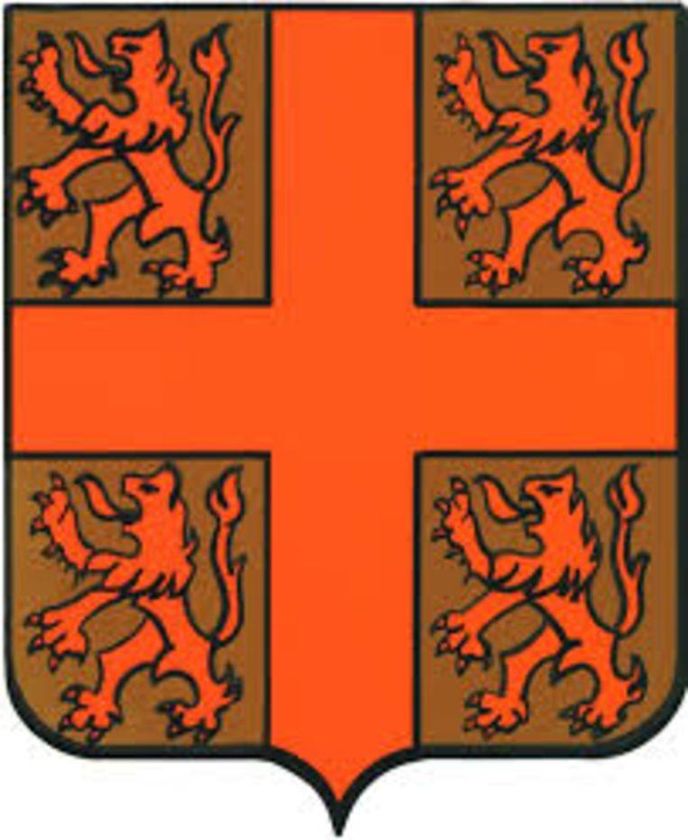 Het oude wapenschild van de gemeente Nevele.