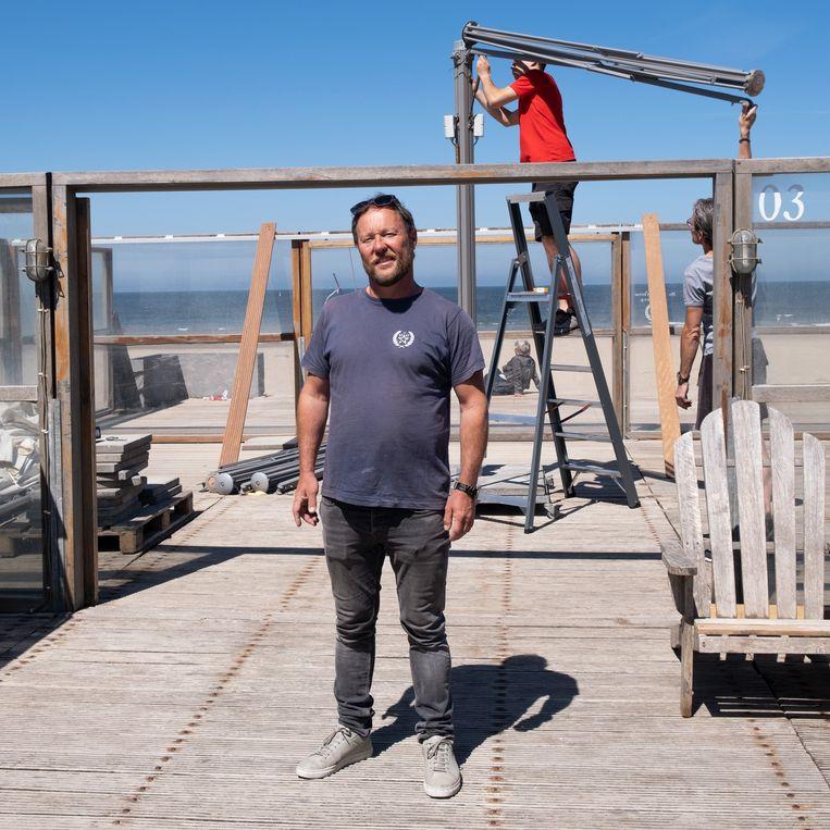 Jeroen Kuiper van strandpaviljoen De Staat in Den Haag. Beeld Sabine van Wechem