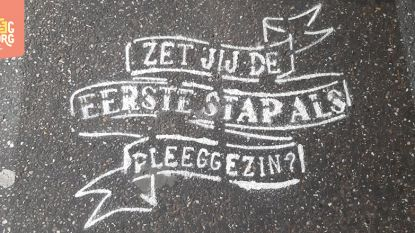 Stad 'tatoeëert' voetpaden voor pleegzorg