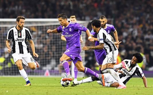 Cristiano Ronaldo in actie tegen Juventus.