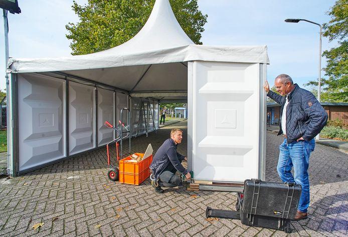 De teststraat aan de Frontstraat in Uden werd twee weken geleden in gebruik genomen.