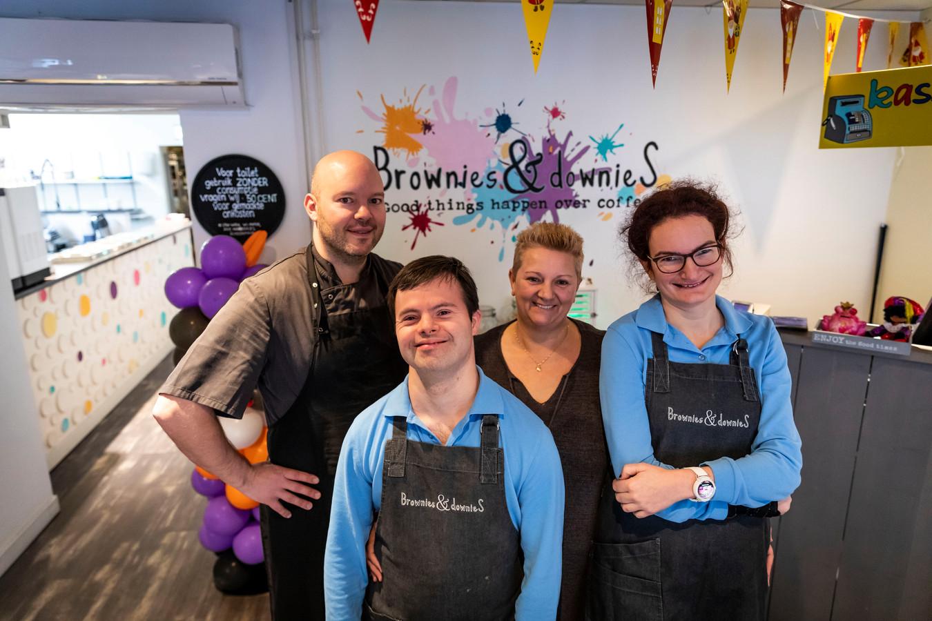 Eigenaresse Rosita van Hoof  van Brownies & Downies gaat zelfstandig verder met het lunchcafé in Geldrop.