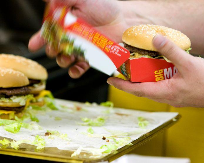 De Big Mac wordt het vaakst besteld. Op nummer 2: McNuggets.