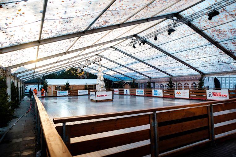 De schaatspiste van Kontich Schaatst.