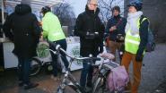 Gratis koffie voor dappere fietsers