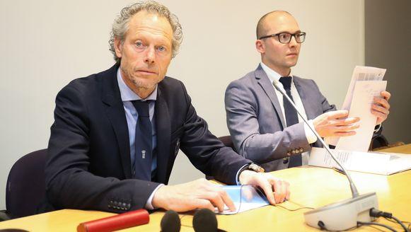 Michel Preud'homme afgelopen dinsdag tijdens zijn verdediging voor de Geschillencommissie.