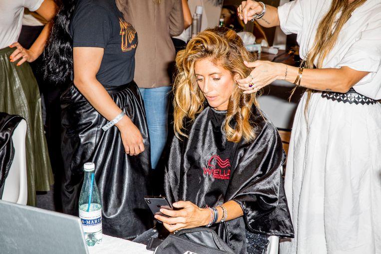Danie Bles op de Amsterdam Fashion Week openingsavond. Beeld Marie Wanders