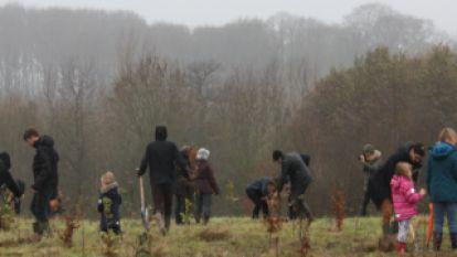 Klarremieken en Ewoud planten duizenden bomen