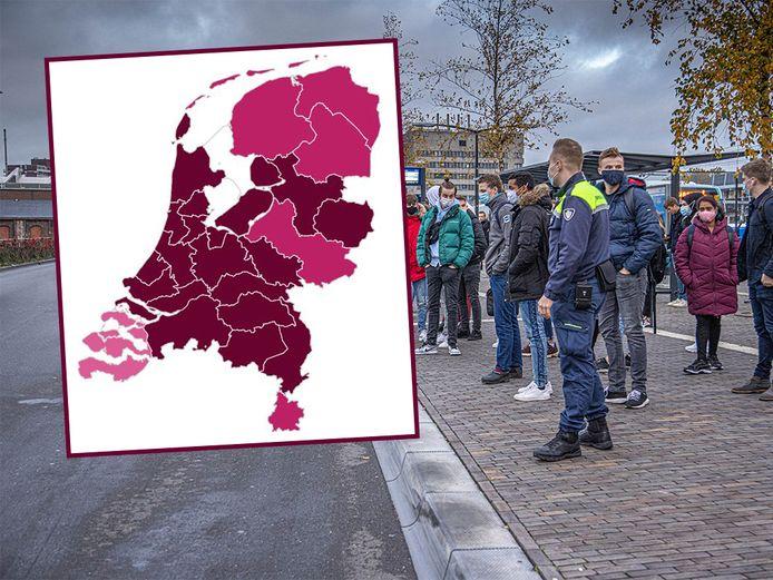 Het risiconiveau in de veiligheidsregio's IJsselland en Flevoland staat nu op 'zeer ernstig'.